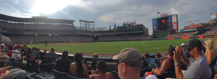 Beautiful view of Turner Field during the Braves vs. Cubs game that we also attended. 3rd game of the season!