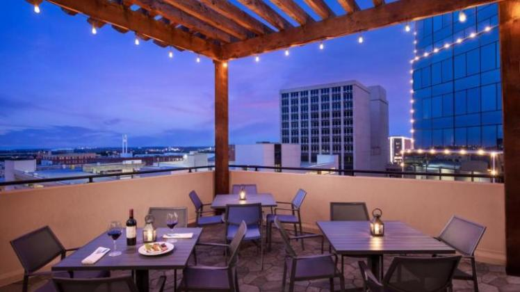 Embassy Suites by Hilton Fort Worth Downtown rooftop dining